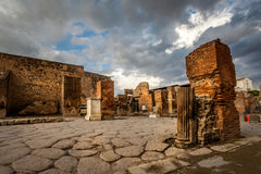 Ruins of a house in Pompeii. Stock Image