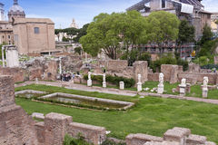 Ruins of the House of the Vestals. In the Roman Forum. Rome, Italy Stock Photography