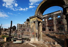 The ruins of the house, after the war Royalty Free Stock Photo