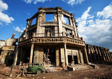 The ruins of the house, after the war Royalty Free Stock Photos