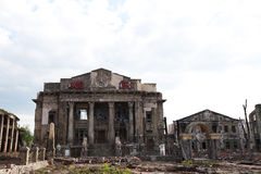 The ruins of the house, after the war Royalty Free Stock Images
