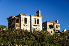 Ruins of houses leaved by owners Royalty Free Stock Images