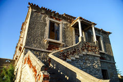 Ruins of houses leaved by owners Royalty Free Stock Photos