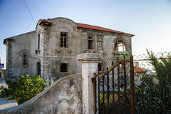 Ruins of houses leaved by owners Royalty Free Stock Photo