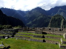 Ruins of houses at Machu Picchu Royalty Free Stock Image
