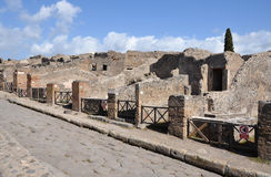 Ruins of houses in Pompeii Royalty Free Stock Photo