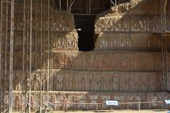 Ruins of the Huaca de la Luna, in Trujillo, Peru. Ancient ruins of the Huaca de la Luna Temple/Shrine of the Moon pyramid Stock Images