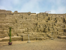 Ruins of Huaca Pucllana Stock Images
