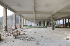 Ruins of a huge empty building Stock Photos
