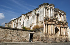 Ruins of the Iglesia de El Carmen church. Destroyed by an earthquake, Antigua, Guatemala stock photo