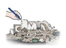 Ruins illustration Stock Image