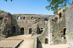 Ruins of Imperial Castle in Duesseldorf. Ruins of Roman Imperial Castle - Kaiserpfalz - in Duesseldorf-Kaiserwerth royalty free stock photography