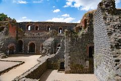 Ruins of Imperial Castle in Duesseldorf royalty free stock images