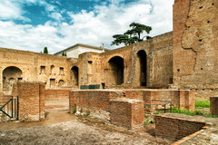 Ruins of imperial palace on Palatine Hill in Rome Royalty Free Stock Image