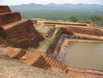 Ruins In Sigiriya Rock In Kandy. Stock Photos