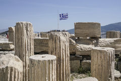 Ruins In The Athenian Acropolis, In Athens, Greece. Royalty Free Stock Photography