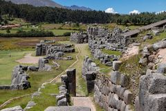 Ruins of the Inca Complex Known as Sacsayhuaman royalty free stock photography