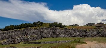 Ruins of the Inca Complex Known as Sacsayhuaman stock photo