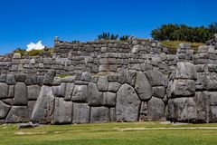 Ruins of the Inca Complex Known as Sacsayhuaman royalty free stock images
