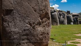 Ruins of the Inca Complex Known as Sacsayhuaman stock images
