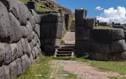 Ruins of the Inca Complex Known as Sacsayhuaman royalty free stock photos