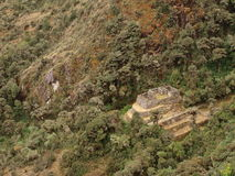 Ruins on Inca trail stock image