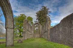 The Ruins of Inchmahome Priory. The ruins of the 13th century Inchmahome Priory near Aberfoyle, Scotland Stock Photo