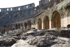 Ruins inside Colosseum Royalty Free Stock Images