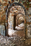 Ruins  inside the fort Tarakanovskiy. Royalty Free Stock Photo