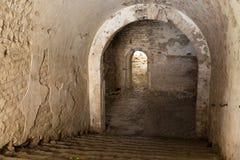 Ruins  inside  fort Tarakanovskiy. Royalty Free Stock Photography