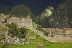 Ruins inside Machu Picchu Royalty Free Stock Image