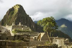 Ruins inside Machu Picchu Stock Photography