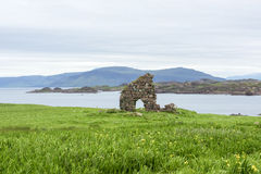 Ruins Iona. Iona was the cradle of Scottish Christianity in Scotland Royalty Free Stock Photo