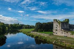 Ruins. In Ireland by river. Photo taken on the road to Jerpoint Abbey Royalty Free Stock Photography