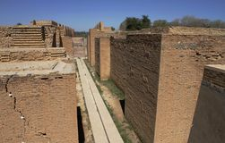 Ruins of the Ishtar gate in Babylon, Iraq. Royalty Free Stock Photography