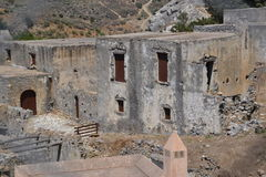 The ruins on the island of Crete. Royalty Free Stock Images