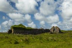 Ruins on Islay. Ruins of old farm building on island of Islay on west coast of Scotland royalty free stock photo