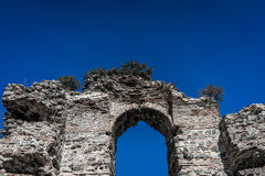 Ruins in Istanbul. A shot of a ruin architecture in Istanbul Turkey Royalty Free Stock Image