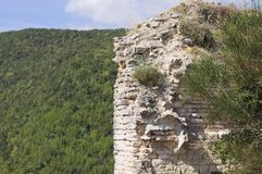 Ruins of an italian medieval fortress royalty free stock image