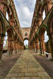 Ruins of Jedburgh Abbey in the Scottish Borders region in Scotla Stock Photo
