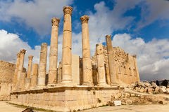 Ruins of jerash Stock Images