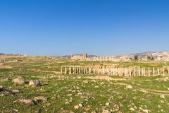 Ruins of Jerash  City in Jordan Stock Photography
