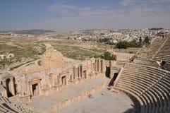 Ruins of Jerash, Jordan. Ruins of Jerash, Roman city near Amman in Jordan Royalty Free Stock Image