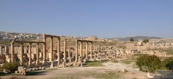Ruins of Jerash, Jordan. Ruins of Jerash, Roman city near Amman in Jordan Stock Photography