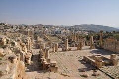 Ruins of Jerash, Jordan. Ruins of Jerash, Roman city near Amman in Jordan Stock Photo