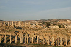 Ruins at Jerash, Jordan Stock Photo