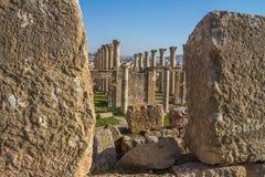 Ruins of Jerash in Jordan Royalty Free Stock Photo