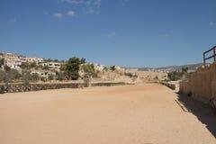 Ruins Jerash in Jordan Stock Image