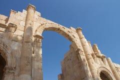 Ruins Jerash in Jordan Stock Images