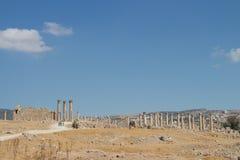 Ruins Jerash in Jordan Stock Photos